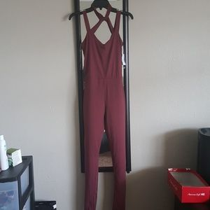 Burgandy Jumpsuit